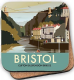 Bristol Clifton Suspension Bridge by Dave Thompson cork backed drinks coaster    (se)